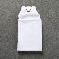 Плед с капюшоном Мишка белый (артикул 643)