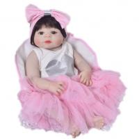 Комплект одежды для куклы реборн девочки (артикул 672)