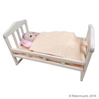 Кроватка для куклы реборн 55 см (артикул 682)
