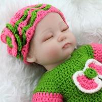 Кукла реборн с закрытыми глазами